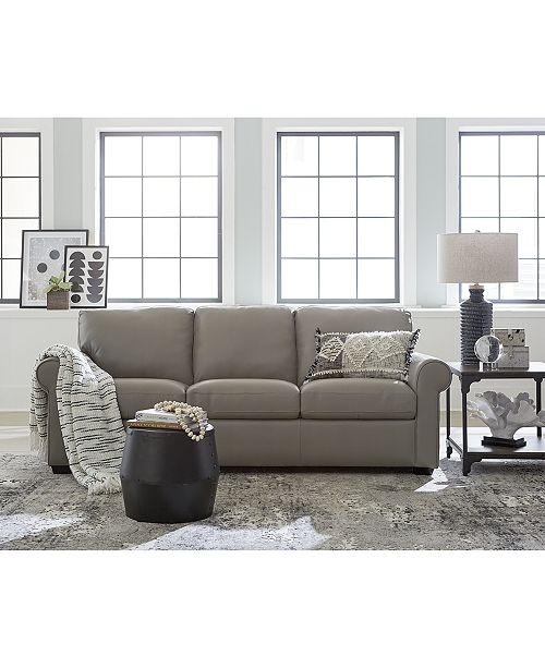 Orid 2-Pc. L-Shaped Leather Sectional Sofa, Created for Macy\'s