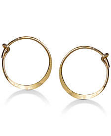 Jody Coyote Hammered Style Hoop Earrings