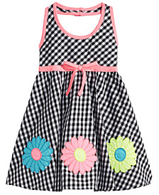 Blueberi Boulevard Baby Girls Check-Print Cotton Sundress