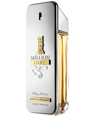 Men's 1 Million Lucky Eau De Toilette Spray, 3.4 Oz. by Paco Rabanne