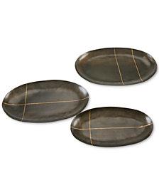 INK+IVY Tribecca Decorative Oval Platter Set of 3