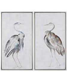 Summer Birds 2-Pc. Framed Wall Art Set