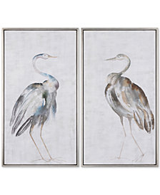 Uttermost Summer Birds 2-Pc. Framed Wall Art Set