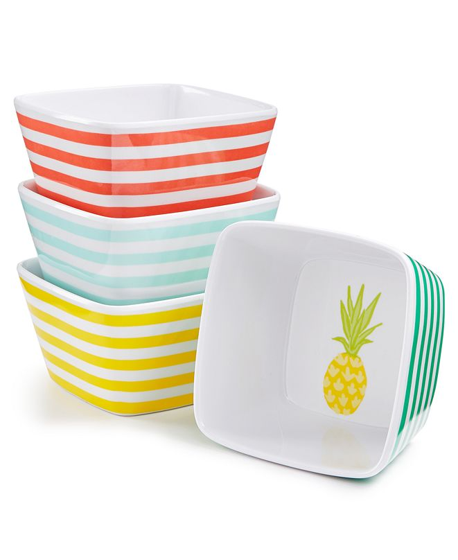 Martha Stewart Collection 4-Pc. Melamine Dip Bowls, Created for Macy's