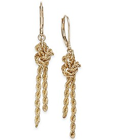 Gold-Tone Knotted Rope Chain Drop Earrings, Created for Macy's