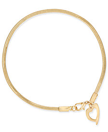 Thalia Sodi Gold-Tone Heart Charm Ankle Bracelet, Created for Macy's