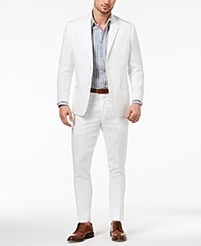 Men's Classic-Fit Ultraflex Stretch Solid Linen Suit Separates