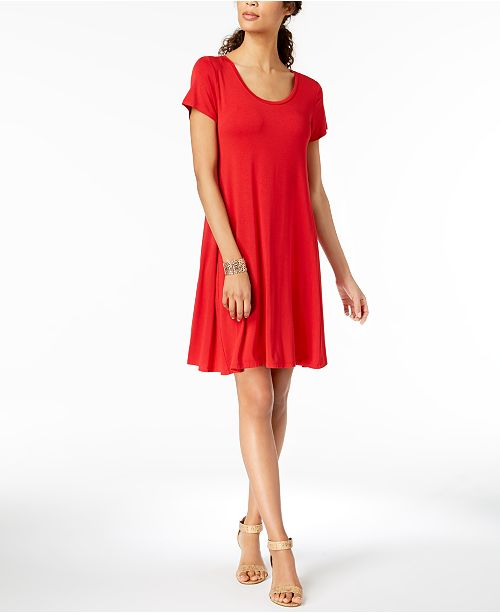 StyleCo Red Robe les courtescreee Femme a Robes manches Real trapèze pour critiques NX8OPkn0w