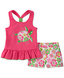 Kids Headquarters Baby Girls 2-Pc. Graphic-Print Tank Top & Shorts Set