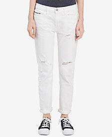 Calvin Klein Jeans Ripped Slim Boyfriend Jeans