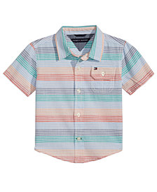 Tommy Hilfiger Baby Boys Tyler Striped Cotton Shirt
