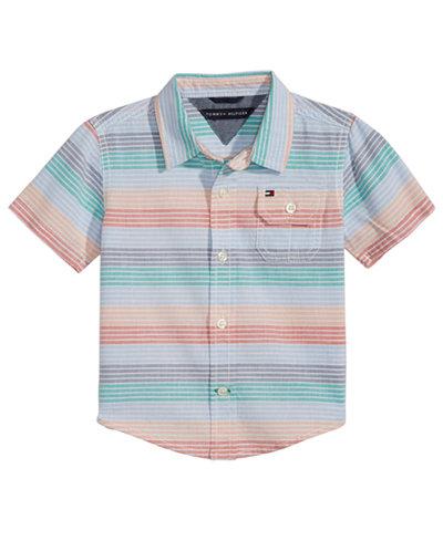 Tommy Hilfiger Baby Boys Tyler Striped Cotton Shirt