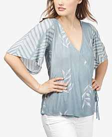 Lucky Brand Printed Wrap Top