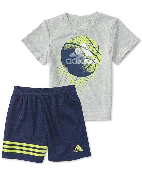 set of adidas shorts