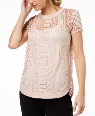 Bar III Burnout T Shirt, Created For Macyu0027s