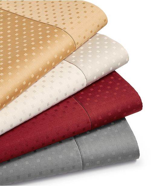 Sunham CLOSEOUT! Agusta Dobby 4-Pc. Sheet Sets, 600 Thread Count Cotton