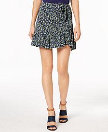 MICHAEL Michael Kors Petite Floral-Print Ruffled Skirt