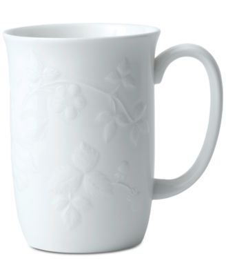 Wild Strawberry White Mug