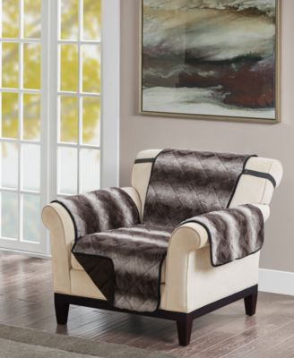Zuri Reversible Tip-Dyed Faux-Fur Chair Protector