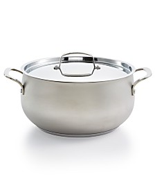 Belgique Stainless Steel Sand Blasted 7.5qt Dutch Oven, Created for Macy's