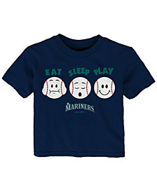 Outerstuff Seattle Mariners Eat, Sleep, Play T-Shirt, Infant Boys (12-24 Months)