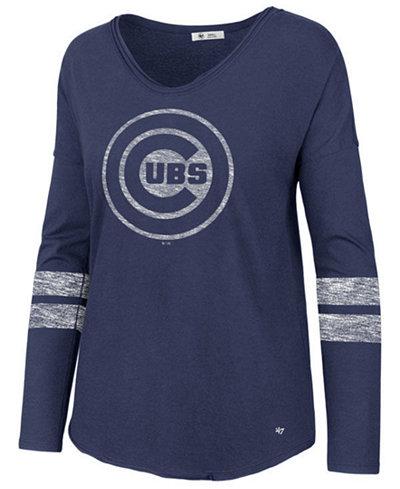 '47 Brand Women's Chicago Cubs Court Side Long Sleeve T-Shirt