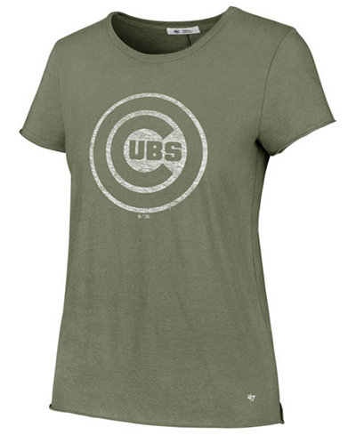 '47 Brand Women's Chicago Cubs Olive Fader T-Shirt