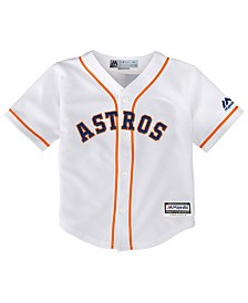 Majestic Houston Astros Blank Replica Cool Base Jersey, Little Boys (4-7)