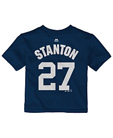 Majestic Giancarlo Stanton New York Yankees Official Player T-Shirt, Toddler Boys (2T-4T)