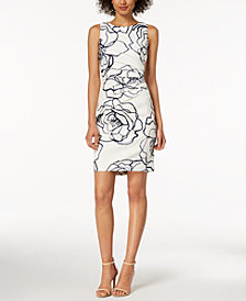Ivanka Trump Printed Starburst Sheath Dress