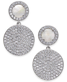 Danori Stone & Crystal Pavé Disc Drop Earrings, Created for Macy's