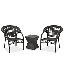 Podell 3-Pc. Outdoor Chat Set, Quick Ship