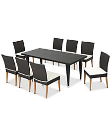 Skylar 9-Pc. Outdoor Dining Set, Quick Ship