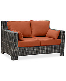 Viewport Outdoor Loveseat Replacement Sunbrella® Cushion, Quick Ship
