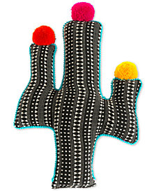 Shiraleah Black Cactus Pillow