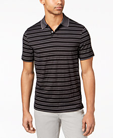 Tasso Elba Men's Supima Blend Striped Polo, Created for Macy's