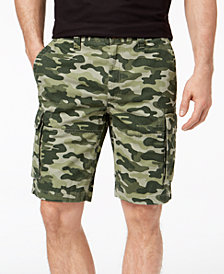 """Club Room Men's Classic-Fit Camouflage-Print 9"""" Cargo Shorts Created for Macy's"""
