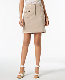 Tommy Hilfiger Utility-Pocket A-Line Skirt, Created for Macy's