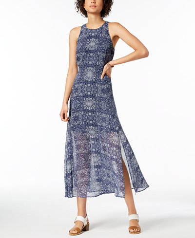 Tommy Hilfiger Printed Overlay Maxi Dress