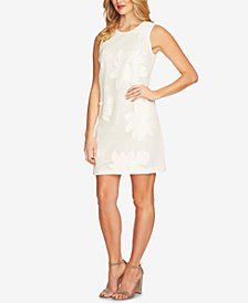 CeCe Cotton Embroidered A-Line Dress