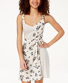 Be Bop Juniors' Floral-Print Fit & Flare Dress