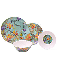 222 Fifth Calabria 12-Pc. Melamine Dinnerware Set