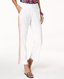 Trina Turk x I.N.C. Embroidered Linen Blend Pants, Created for Macy's