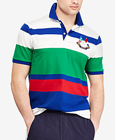 Polo Ralph Lauren Men's CP-93 Classic-Fit Striped Polo,Created for Macy's
