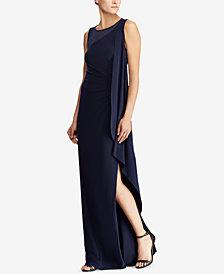 Lauren Ralph Lauren Ruffled Overlay Dress
