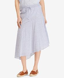 Lauren Ralph Lauren Asymmetrical Midi Skirt