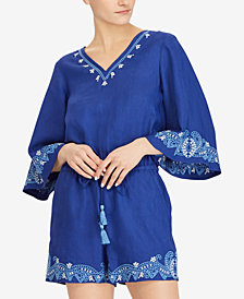 Lauren Ralph Lauren Embroidered Romper