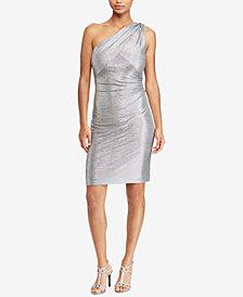 Lauren Ralph Lauren Metallic One-Shoulder Dress