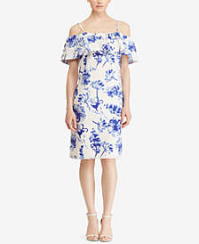 Lauren Ralph Lauren Ruffle Off-The-Shoulder Dress