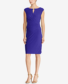 Lauren Ralph Lauren Keyhole Jersey Dress
